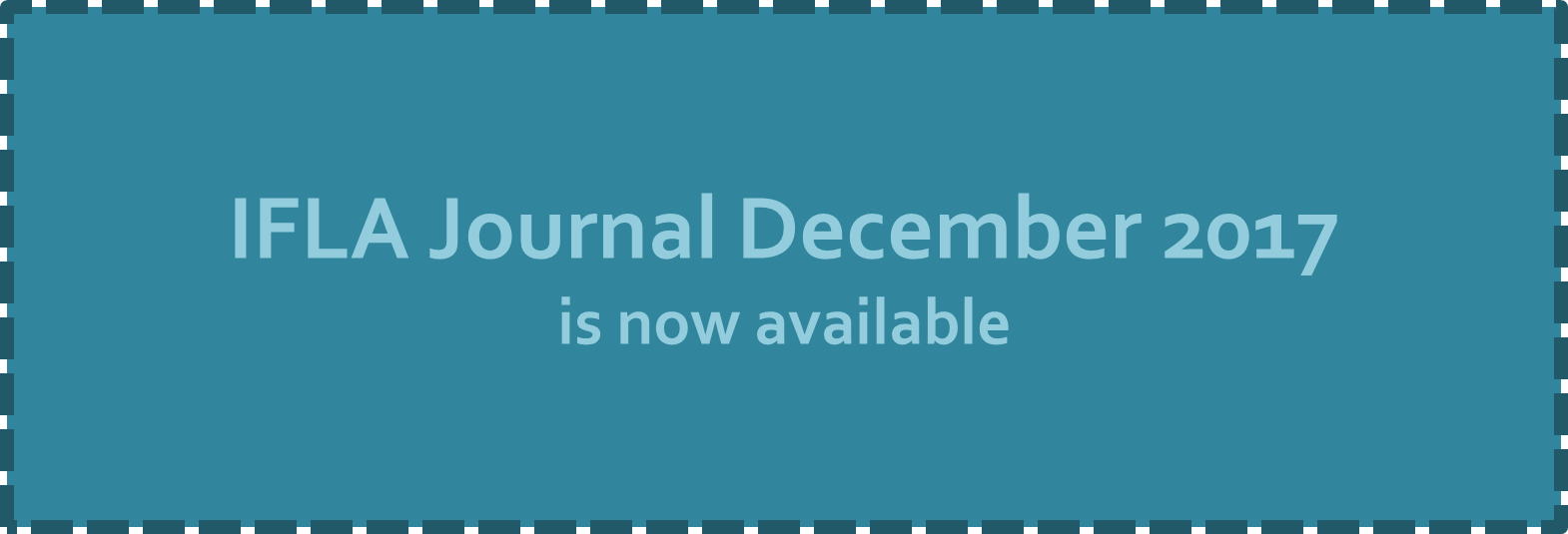 IFLA Journal December 2017 is available